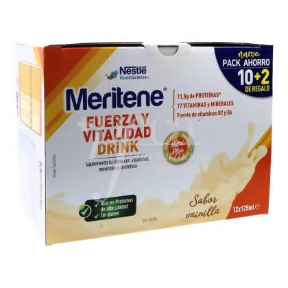 MERITENE FUERZA Y VITALIDAD DRINK VANILLA 12X125ML PROMO
