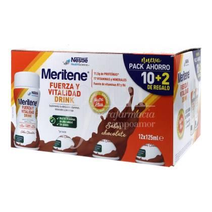 MERITENE FUERZA Y VITALIDAD DRINK CHOCOLATE 12X125ML PROMO