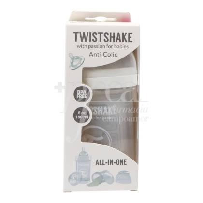 TWISTSHAKE ANTICOLIC FEEDING BOTTLE WHITE +0M 180 ML