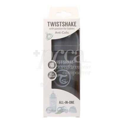 TWISTSHAKE ANTICOLIC FEEDING BOTTLE GREY +2M 260 ML
