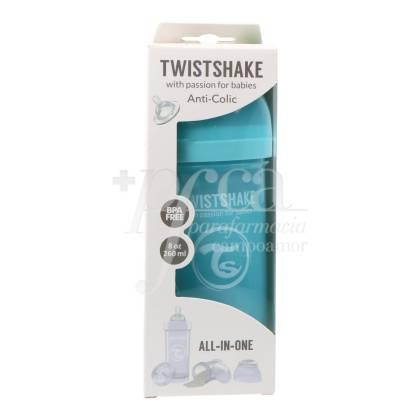 TWISTSHAKE ANTICOLIC FEEDING BOTTLE BLUE +2M 260 ML