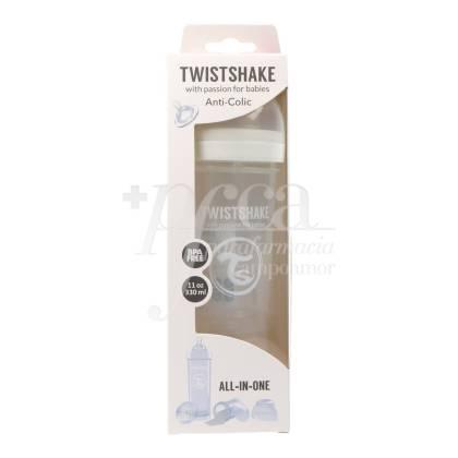 TWISTSHAKE ANTICOLIC FEEDING BOTTLE WHITE +4M 330 ML