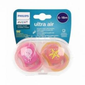 SILICONE PACIFIER PHILIPS AVENT ULTRA AIR 6-18M 2 UNITS