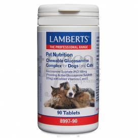 PET NUTRITION GLUCOSAMINA CACHORROS E GATOS 90 COMPRIMIDOS LAMBERTS