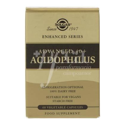 ADVANCED 40+ ACIDOPHILUS 60 CAPSULES SOLGAR