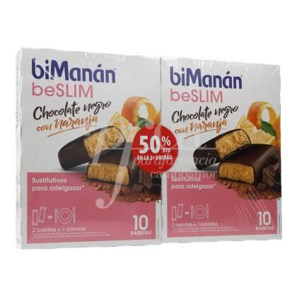 BIMANAN BESLIM CHOCOLATE PRETO COM LARANJA 10 + 10 UNIDADES PROMO