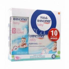 RHINOMER BABY SPRAY EXTRA MILD STRENGHT 115 ML + RHINOMER CONFORT REPLACEMENTS 10 UNITS PROMO