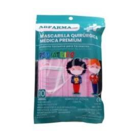 PINK SURGICAL MASKS FOR KIDS 10 UNITS ABFARMA