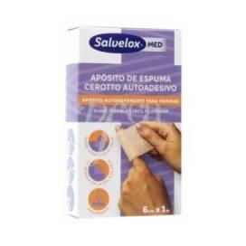SALVELOX MED FOAM PLASTER CURATIVO ADESIVO 1M X 6CM 1 UNIDADE