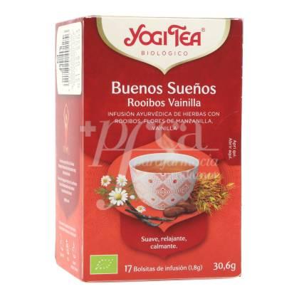 YOGI TEA BUENOS SUEÑOS ROOIBOS 17 TEA BAGS