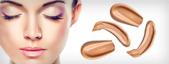 Maquiagem facial em emulsão