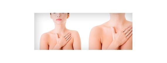 Brust und Hals