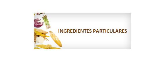 Particular ingredients