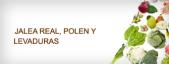Jalea real, polen y levaduras