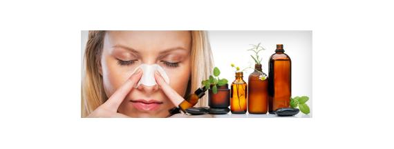 Respiration and aromatherapy