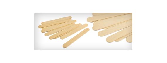 Depressores de madeira