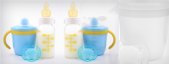 Pacifiers, bottles and teats