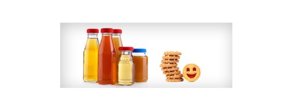 Kinder Kekse und Getränke