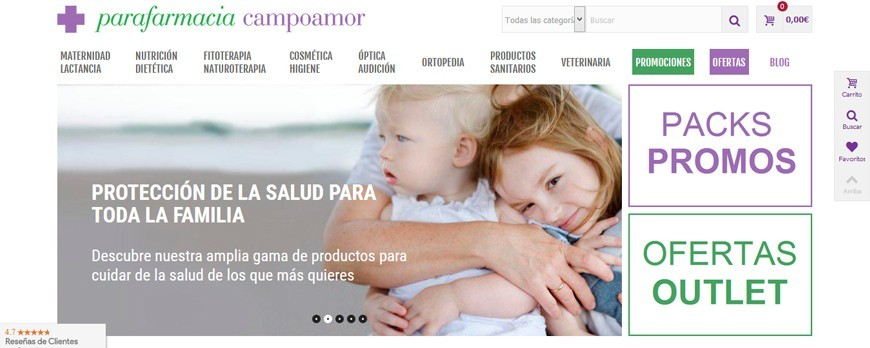 Parafarmacia Campoamor presents its new website