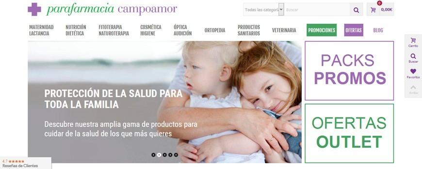 Parafarmacia Campoamor presenta su nueva página web